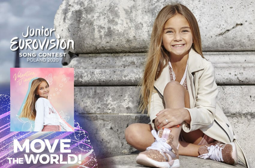 Valentina avec la chanson « J'imagine » pour la France à l'Eurovision Junior 2020