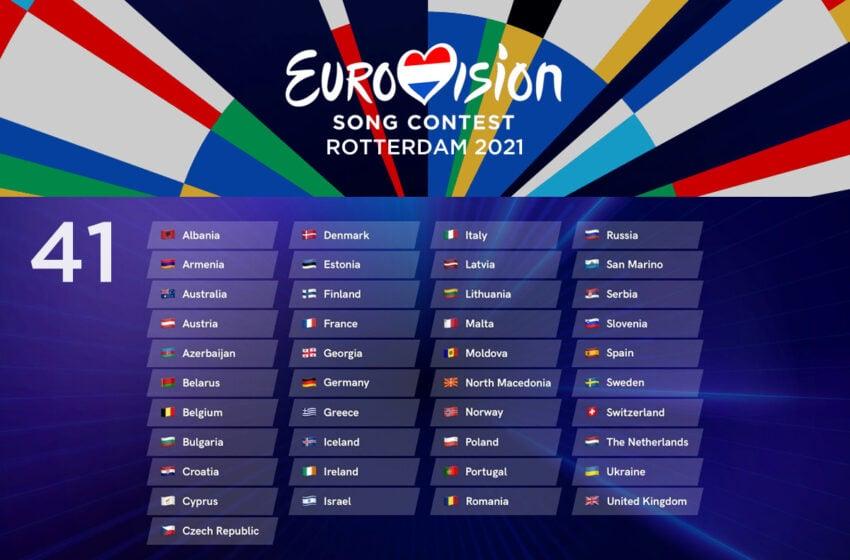 41 participants au concours Eurovision de la chanson 2021