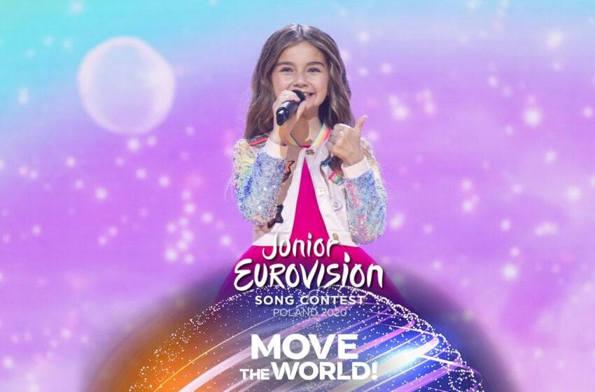 Valentina imagine de gagner au concours Eurovision Junior 2020