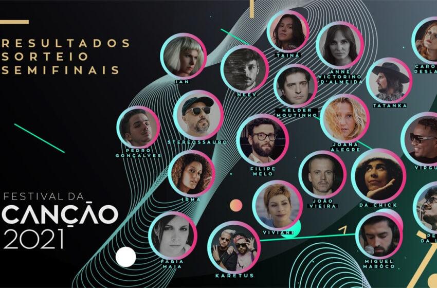 Tirage au sort des demi-finales du Festival da Canção 2021