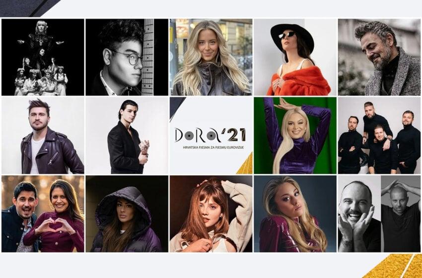 Croatie 2021 : écoutez les extraits des finalistes du Dora 2021