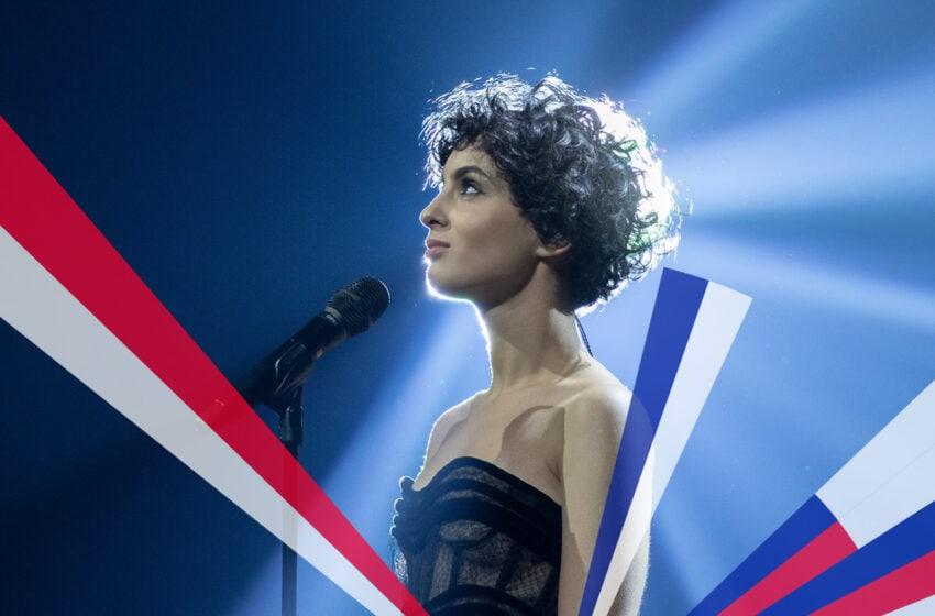 Barbara Pravi est prête à passer en deuxième partie de la finale du concours Eurovision 2021